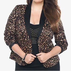 EUC Torrid Leopard print blazers size 18/20